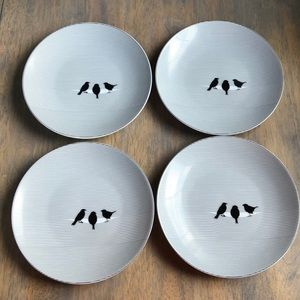 🎉HP 10/15 Cheeky appetizer plates, 4 in set, NWT
